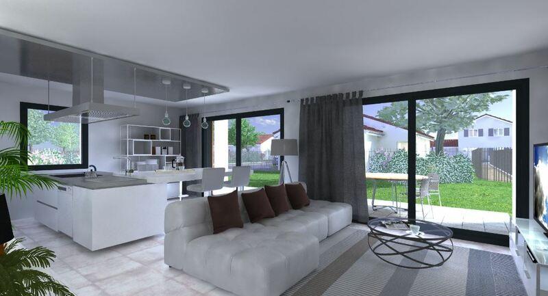 Villa moderne type 4 avec jardin Tullins 38